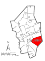 Map of Beaver Township, Columbia County, Pennsylvania Highlighted.png