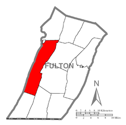 Location of Brush Creek Township in Fulton County