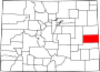 Map of Colorado highlighting Cheyenne County.svg