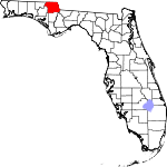 A state map highlighting Jackson County in the northwestern part of the state. It is medium in size.