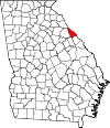 Map of Georgia highlighting Lincoln County.svg