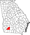 Map of Georgia highlighting Mitchell County.svg
