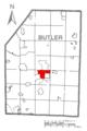 Map of Homeacre-Lyndora, Butler County, Pennsylvania Highlighted.png