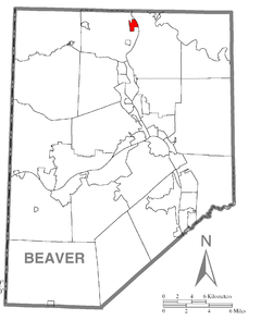 Map of Koppel, Beaver County, Pennsylvania Highlighted.png