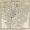 Map of Leipzig in 1857 from Wandkarte vom Königreiche Sachsen 09 (cropped).jpg