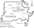 Map of Madison Parish Louisiana With Municipal and District Labels.PNG