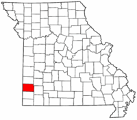 Map of Missouri highlighting Jasper County.png