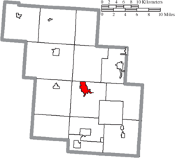 Location of New Lexington in Perry County