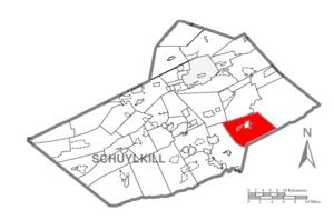 East Brunswick Township, Schuylkill County, Pennsylvania - Image: Map of Schuylkill County, Pennsylvania Highlighting East Brunswick Township