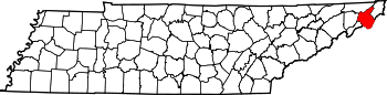Map of Tennessee highlighting Carter County.svg