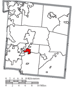 Location of South Lebanon in Warren County