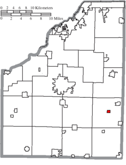 Location of Wayne in Wood County
