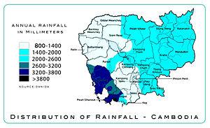 Map rainfall Cambodia