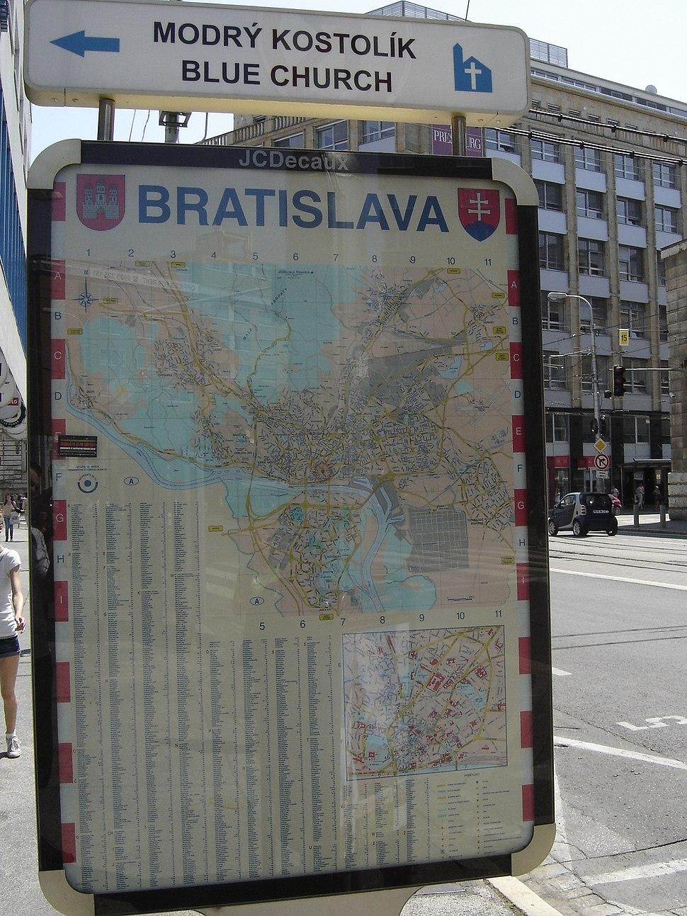 Mapa Bratislavy