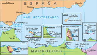 Geography of Spain - Spain's exclaves in north Africa