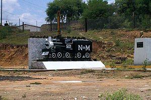 Cárdenas, San Luis Potosí - Image: Maquina en entrada a Cardenas