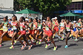 Athletics at the 2016 Summer Olympics – Women's marathon - Image: Marathon Rio 2016 004
