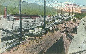 West Rutland, Vermont - Marble mills c. 1915