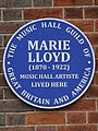 Marie Lloyd (1870-1922) music hall artiste lived here.jpg
