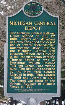 Battle Creek Station Michigan Central Railroad Wikipedia