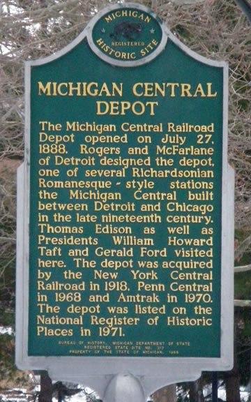 Marker MC Depot Battle Creek