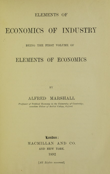 Elements of economics of industry, 1892 Marshall - Elements of economics of industry, 1892 - 5745225.tif