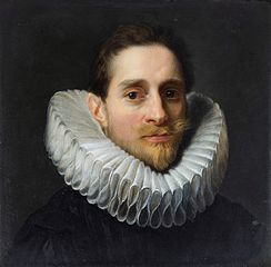 Miniature of a man in a ruff.