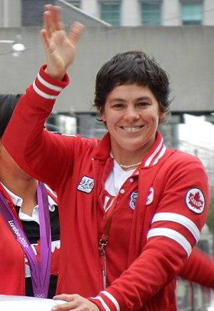 Martine Dugrenier - Dugrenier at the Olympic Heroes Parade in Toronto (September 2012)