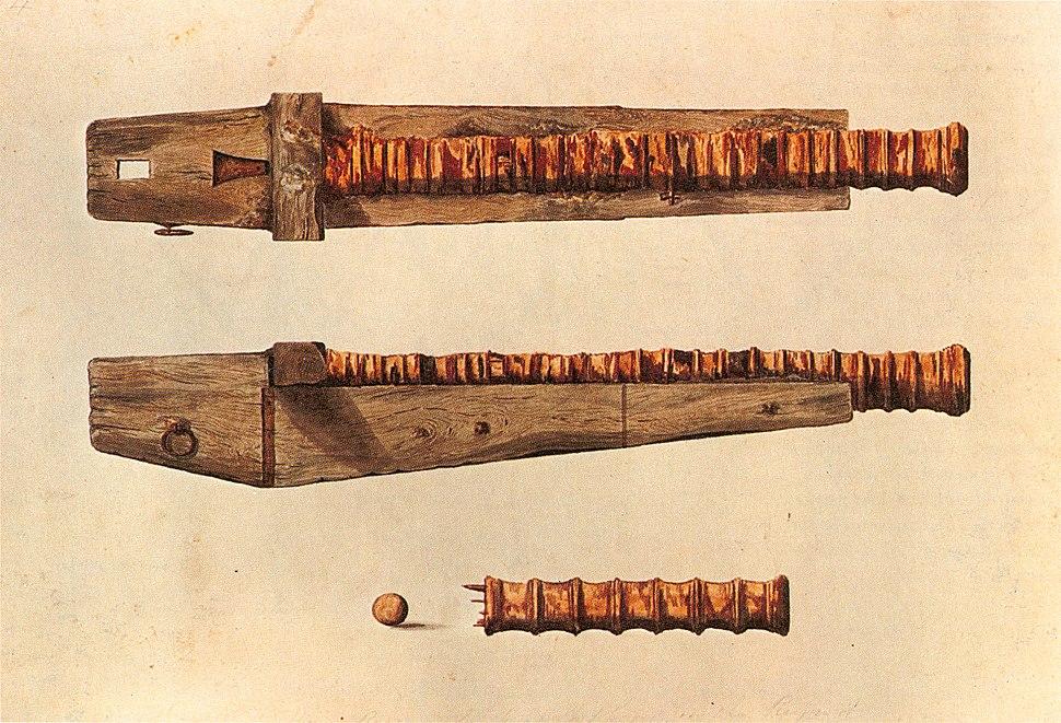 Mary Rose iron gun watercolor