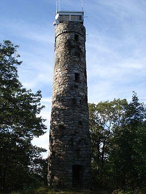 Massaemett Mountain - The rock fire tower on top of Massaemett Mountain