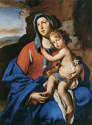 Massimo Stanzione - Image: Massimo Stanzione Virgin and Child WGA21704