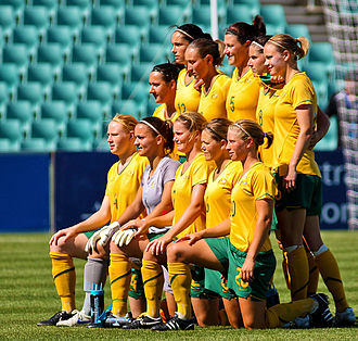 Australia women's national soccer team - Matildas before a game against Italy in 2009
