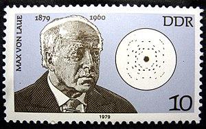 Max von Laue - Deutsche Post (der DDR) Briefmarke (postage stamp), 1979