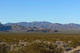 Eldorado Valley - Image: Mc Cullough Mountain from Eldorado Valley 1