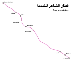 Mecca Metro Route Map