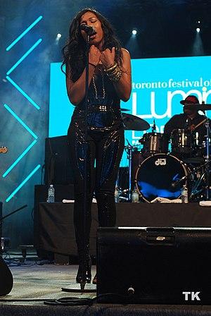 Melanie Fiona - Fiona performing live at Luminato in 2010