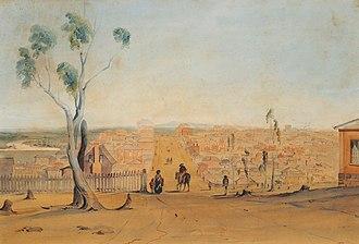 Georgiana McCrae - Melbourne, Collins St, 1841