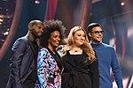 Melodifestivalen 2019, deltävling 1, Scandinavium, Göteborg, programledarna, 2.jpg