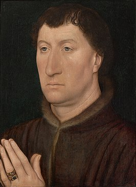 Portret van Gilles Joye toegeschreven aan Hans Memling, c. 1472, Sterling en Francine Clark Art Institute in Williamstown, Massachusetts