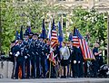 Memorial Day parade forms on Champs-Elysees to Arc de Triomphe, Paris 25 May 2014.jpg