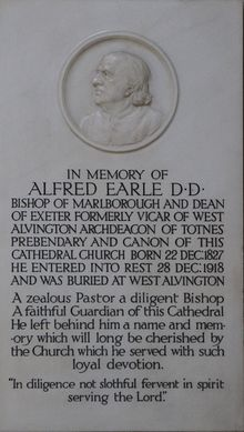 Memorial to Alfred Earle in Exeter Cathedral.jpg
