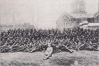 5/42 Evzone Regiment - Men of the regiment with Captain Christodoulou, Odessa, 1919
