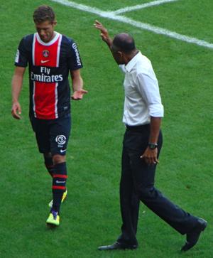 Jérémy Ménez - Ménez with manager Antoine Kombouaré in 2011.