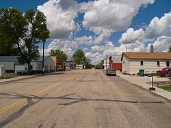 Street scene in Mercer, North Dakota