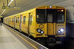 Merseyrail Class 507, 507016, Liverpool Lime Street railway station (geograph 4499499).jpg