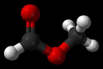 Methyl formate - Image: Methyl formate 3D balls