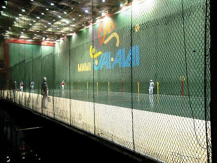 "Miami Jai Alai fronton, known as ""The Yankee Stadium of Jai Alai"" Miami Jai Alai fronton.jpg"