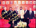 Mian Amer Mahmood signing sister city memorandum with mayor of Chicago Mr. Richard M. Daley..jpg