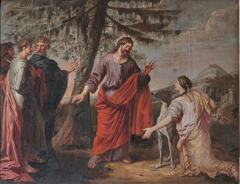 File:Michael Angelo Immenraet - Jesus and the Woman of Canaan.jpg