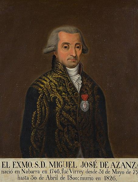 Retrato de Miguel José de Azanza.